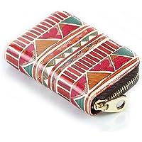Credit Card Holder - Lizimandu Womens RFID Blocking Spacious PU Zipper Security Credit Card Wallet Small Coin Purse