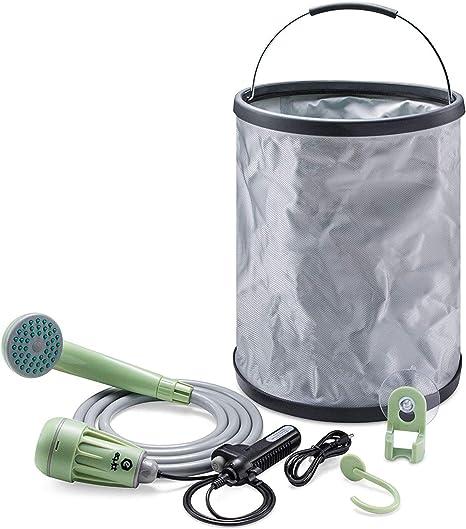 limpieza de mascotas senderismo URPRO Ducha port/átil para camping ducha de mascotas para camping lavado de coches cabezal de ducha exterior bomba de ducha bater/ías recargables USB desmontables