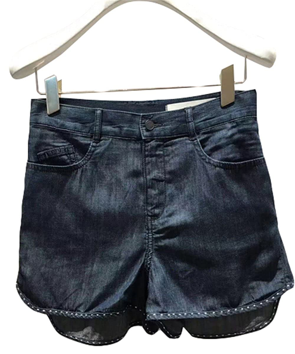Genuine Purchasing Simple and Washable high Waist was Thin Wild Denim Shorts Pui Mei to Prime Country 2A2R109