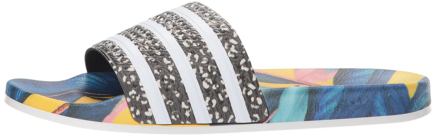 adidas Originals Women's Adilette Slide Sandals B077XBQZTW 7 B(M) US|White/Black