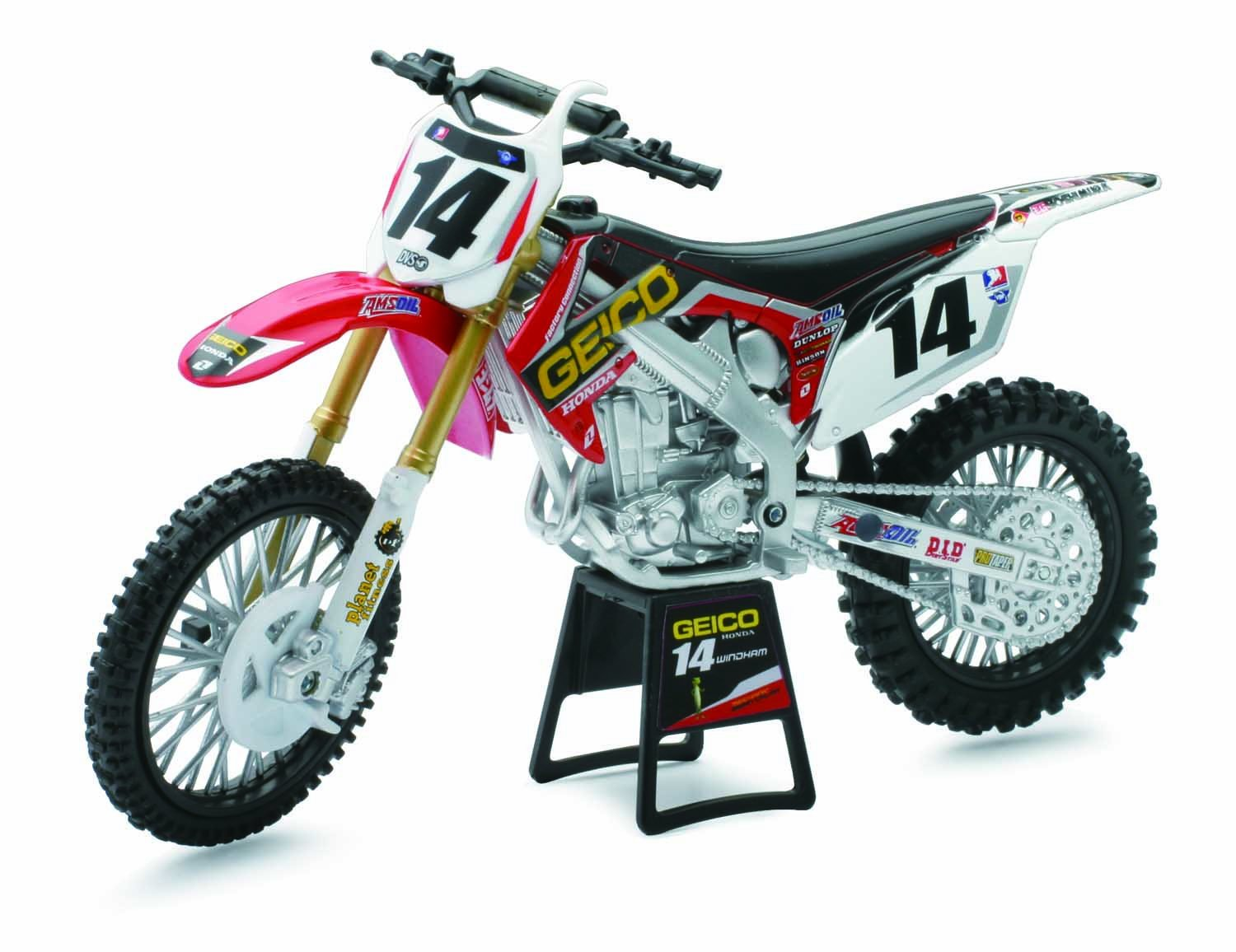 Amazon.com: New Ray 1:12 Geico Honda Crf450R Bike (Kevin Windham ...