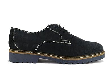 RUE 51 zapatos elegantes hombre gamuza (45 EU, dark Azul)