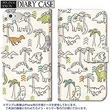301-sanmaruichi- iPhoneSE ケース iPhone5s ケース iPhone5 ケース 手帳型 おしゃれ 恐竜 ダイナソー クリーム 手帳ケース