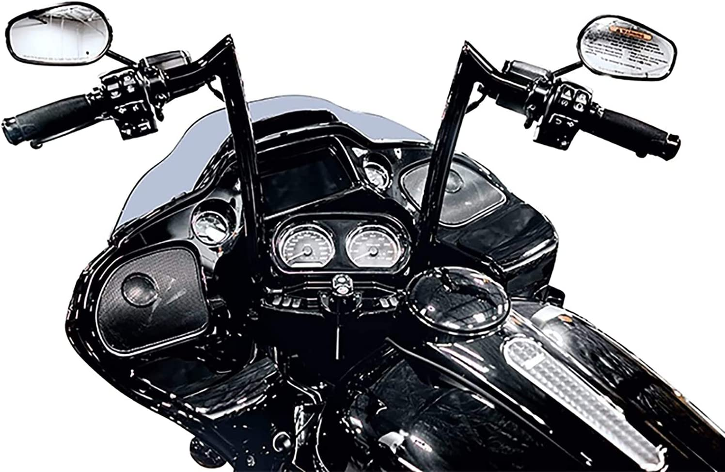 Pre Wired Dominator Industries 14 Inch Rise Chrome for 2015-2020 Harley Road Glides 1 1//4 Inch Road Glide Meathook Monkey Ape Hanger Handlebars