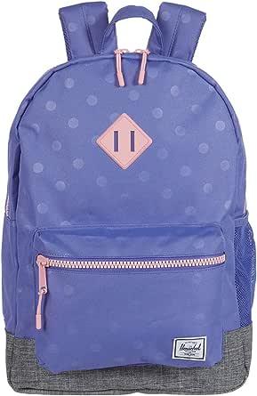 Herschel Supply Co. Girl's Heritage XL Backpack (Little Kids/Big Kids) Dusted Peri Heat Press Polka/Raven Crosshatch One Size