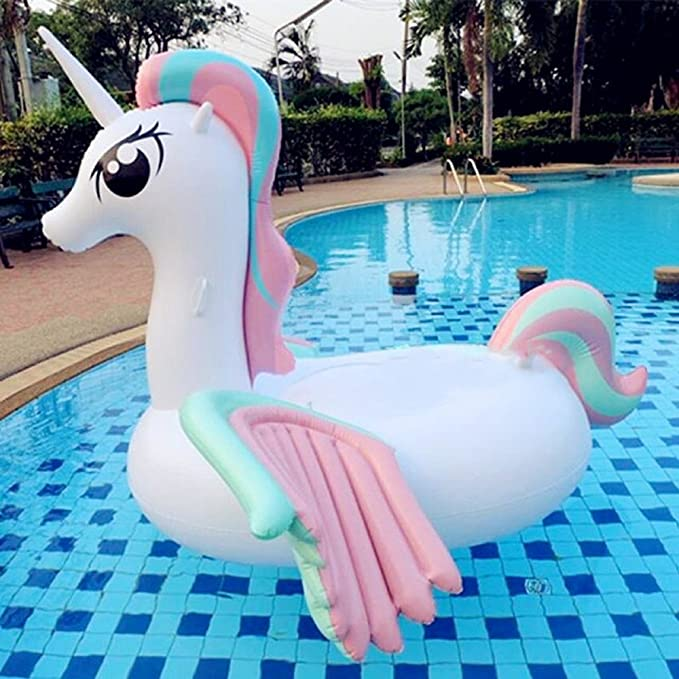 Amazon.com: goolsky inflable gigante unicornio piscina ...