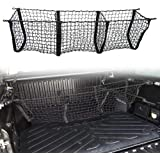 Three Pocket Pickup Truck Cargo Net Fit for Toyota Tacoma 2013-2019 Cargo Organizer Storage Net