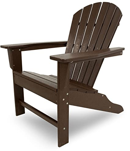 POLYWOOD Outdoor Furniture South Beach Adirondack Chair, Mahogany-Recycled  Plastic Materials - Amazon.com : POLYWOOD Outdoor Furniture South Beach Adirondack Chair