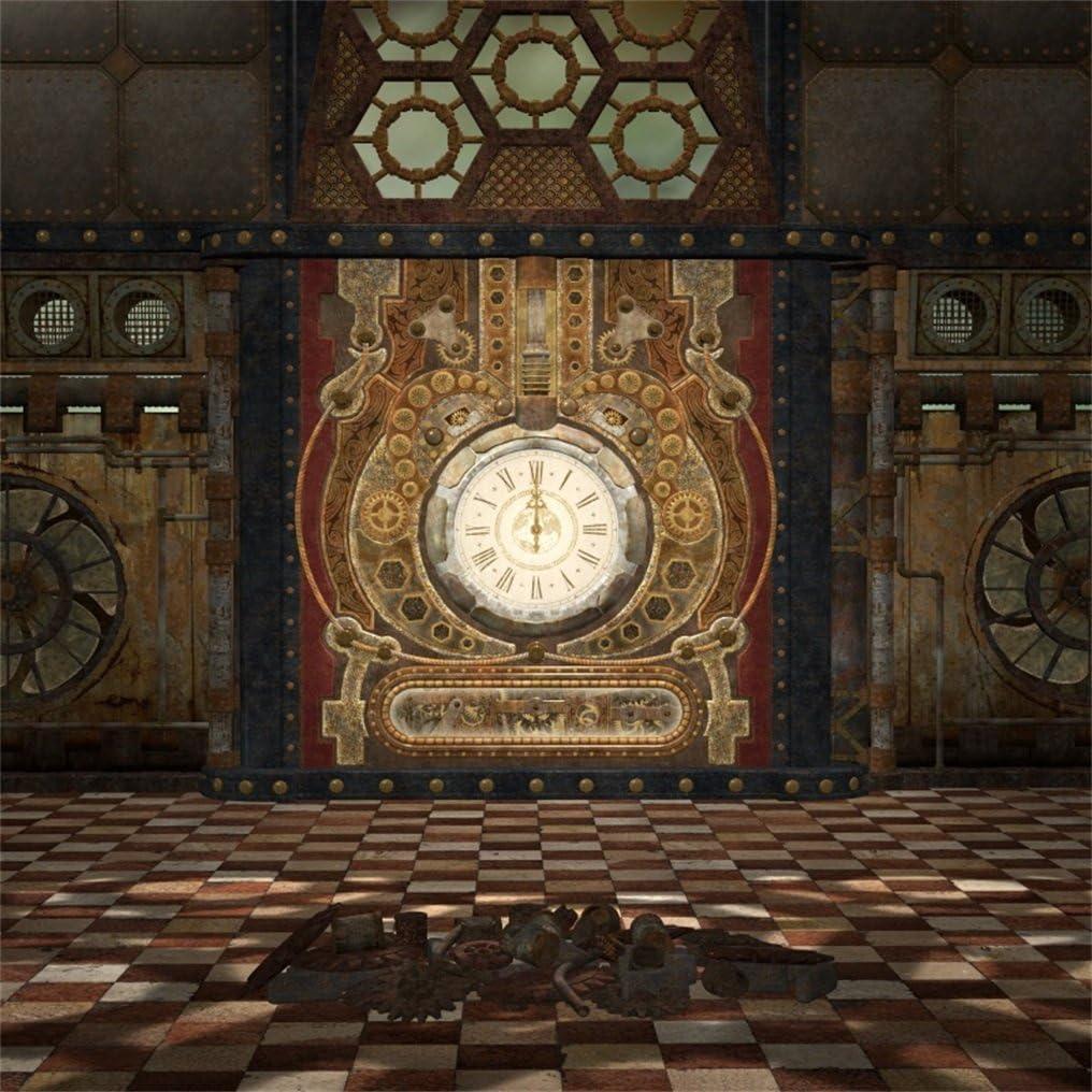 Steampunk Clock Background