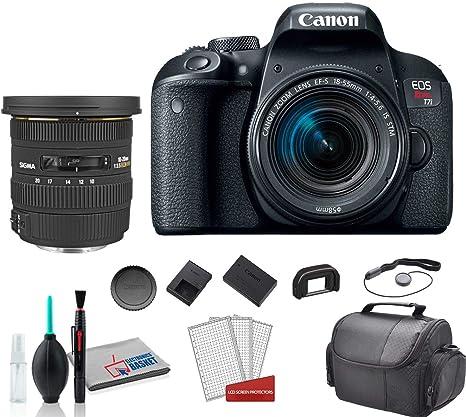Sigma - Objetivo Gran Angular para Canon EOS Rebel T7i DSLR (10-20 ...