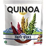 Happy Andes Red Quinoa 3 lbs - Non Gluten, Whole Grain Rice Substitute - Ready to Cook Food for Oats and Seeds Recipes - Heal