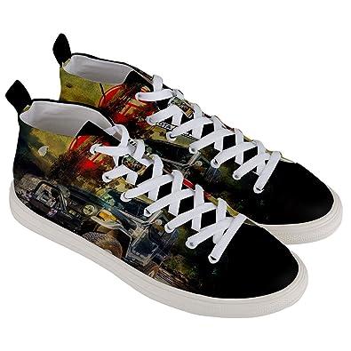 0ea5430238c0 Offroad Style Men s Mid-Top Canvas Sneakers Shoes Jeep FJ40 Landcruiser  Toyota Legend Design (