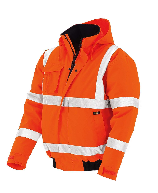 teXXor –  Giacca catarifrangente Pilot Whistler impermeabile, antivento giacca da lavoro, Giallo, 4118