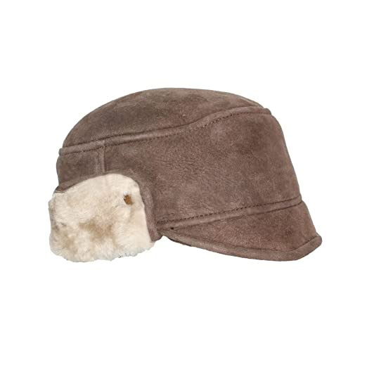 OrlovNY Mens Sheepskin Leather Bomber Hat Winter Trapper Hunting Hat  Ushanka Aviator Russian Hats 9bf1387d9656