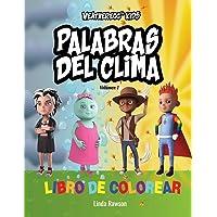 WeatherEgg Kids: Palabras del clima: Libro de colorear: