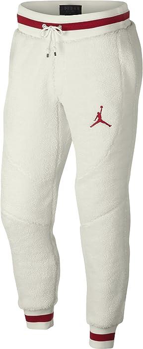 b539c57562a6af Jordan Air Retro 1 Shearling Fleece Men's Sportswear Pants Sail/Gym Red  ah7911-133