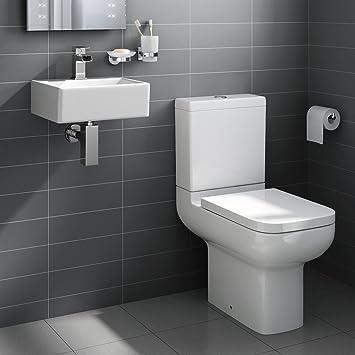square ceramic small cloakroom basin bathroom sink short