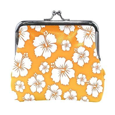 Amazon.com: LALATOP Hawaiian Flower Background - Monedero ...