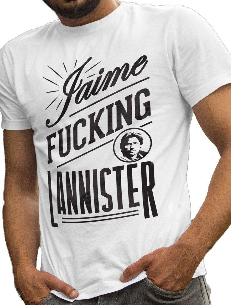LeRage Shirts Game of Thrones T-Shirt Jaime Fucking Lannister Men's White X-Large