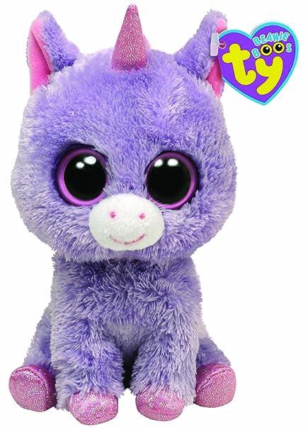 d2ada6312fb Amazon.com  Ty Beanie Boos Rainbow - Unicorn  Toys   Games