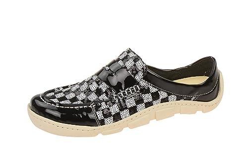 Eject 16161/1.002 Black-white - Mocasines de charol para mujer: Amazon.es: Zapatos y complementos
