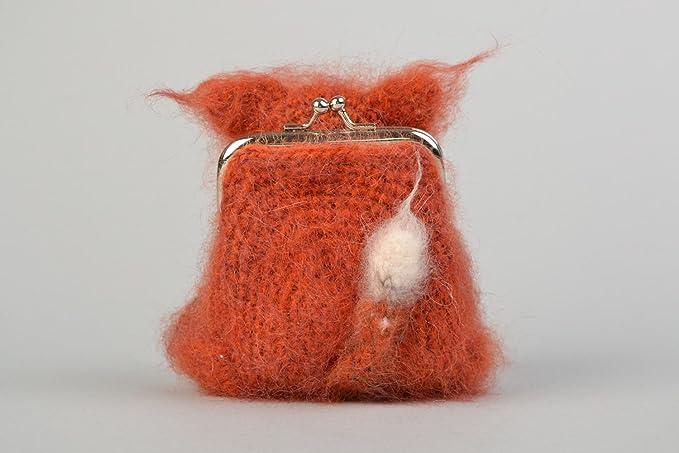 Monedero artesanal tejido a ganchillo para ninos con forma ...