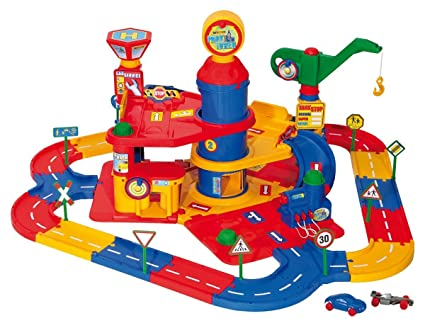 Wader Park Tower And Street Playset With Cars - 3 Floors