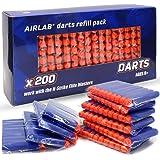 Airlab 200-tal dartpilar för Nerf tillbehör, dart för N-Strike Elit-serien, 7,2 cm påfyllning dartpilar, blå