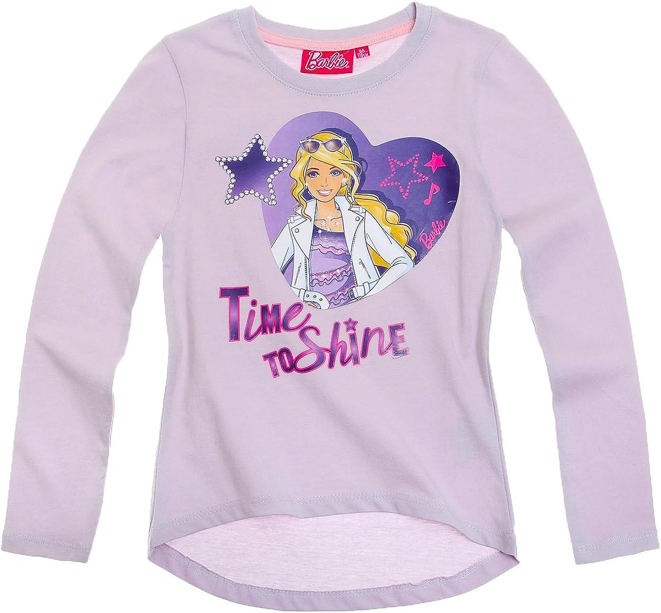 Barbie - Camiseta de manga larga para niñas: Amazon.es: Ropa y accesorios