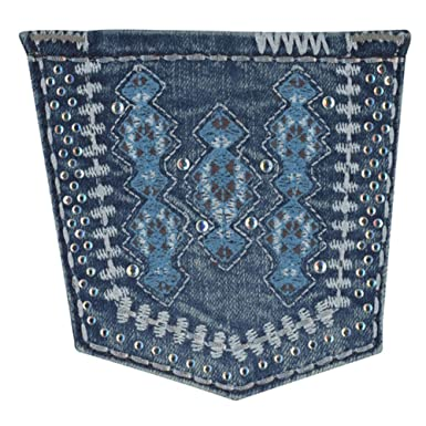 eb323b78 Amazon.com: Wrangler Girl's Aztec Embroidered Jean (5R): Clothing