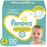 Diapers Size 4, 120 Count - Pampers Swaddlers Disposable Baby Diapers, Enormous Pack (Packaging May Vary)