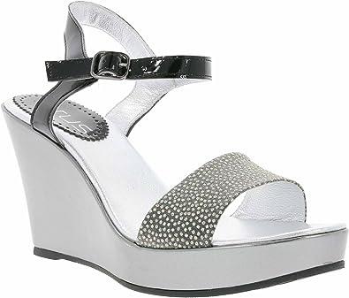 Virus - Zapatos de Vestir de Material Sintético para Mujer Gris Gris, Color Gris, Talla 41: Amazon.es: Zapatos y complementos