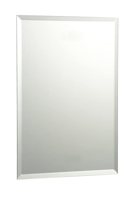 20 X 30 Bevelled Edge Rectangle Bathroom Mirror With Chrome Effect