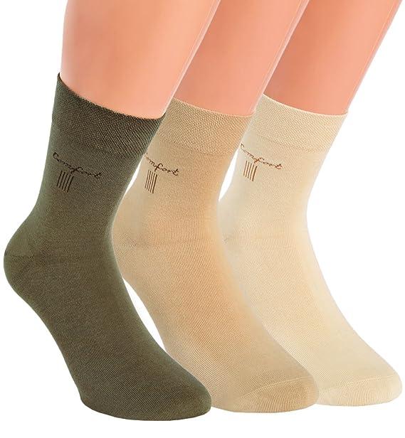 Vita Sox corta vástago Calcetines Hombre - Calcetines cortos Calcetines einfarbig algodón natural diseño sin goma sin costuras 6 Pack Beige Natur-Töne 1: ...