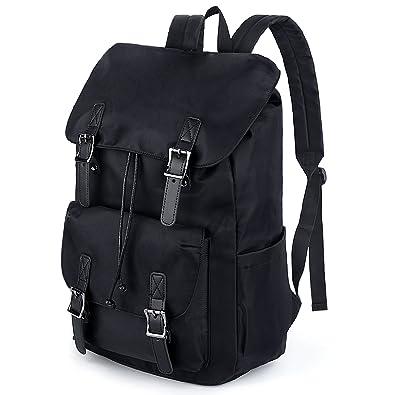 9542e1ca53 Amazon.com  UTO Fashion Backpack Waterproof Cloth Nylon Rucksack School College  Bookbag Drawstring Shoulder Bag Black  Shoes