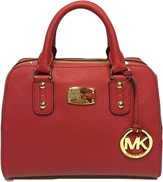 89e5dad02092 (マイケルコース)MICHAEL KORS SAFFIANO SMALL SATCHEL RED 35S3GSAS1L-RED 2way ショルダー バッグ