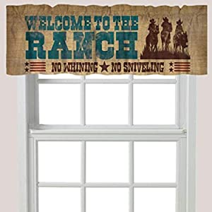 Laural Home Welcome to Ranch Window Valance, Brown