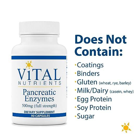 Amazon.com: Nutrientes vitales – Pancreatic enzimas 500 mg ...