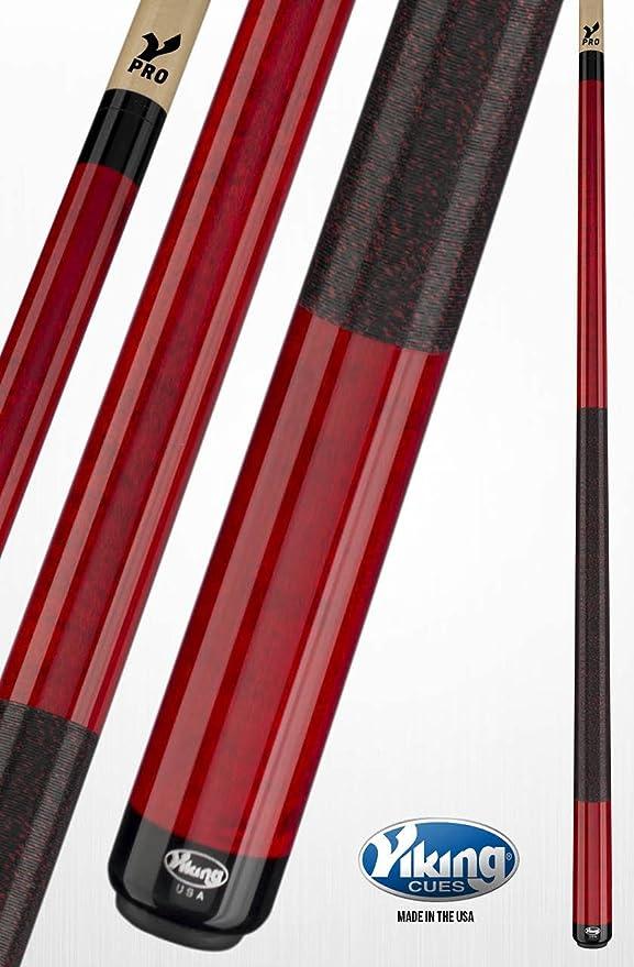 Viking A235 Pool Cue Stick Rojo Carmesí manchas Northwoods arce liberación rápida conjunta V Pro eje 18, 18.5, 19, 19,5, 20, 20,5, 21 ml): Amazon.es: Deportes y aire libre