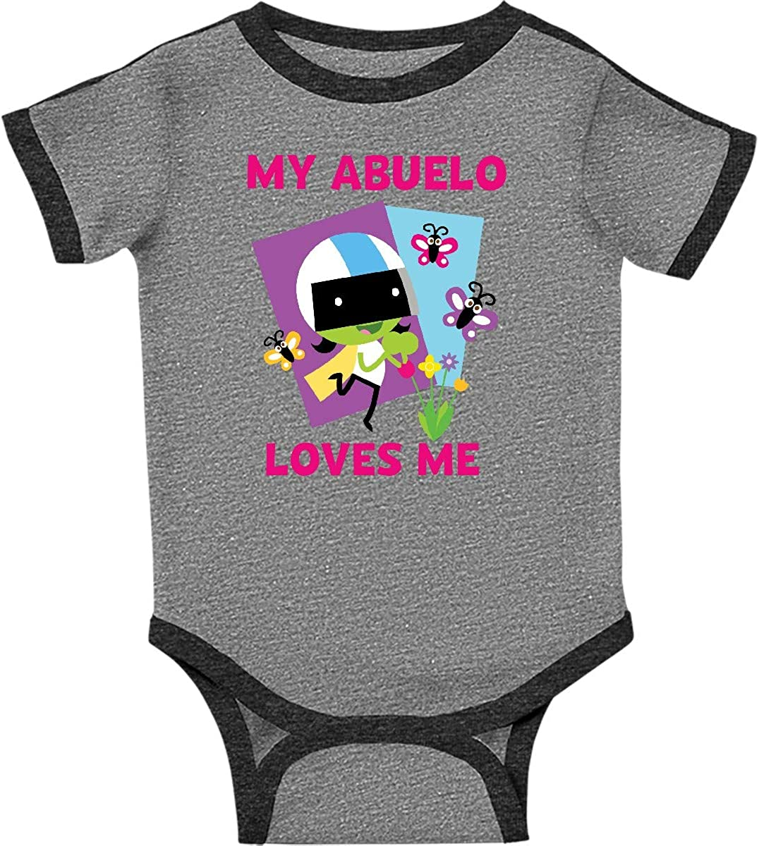 inktastic My Abuelo Loves Me with Dee Infant Creeper PBS Kids