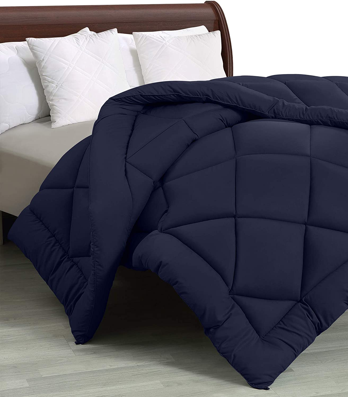 Utopia Bedding - All Season Quilted Duvet Insert - Goose Down Alternative Comforter - Full/Queen - Navy
