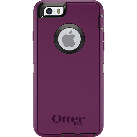 promo code 8bcc7 eb745 OtterBox Defender Series Case for Apple iPhone 6s/6 (Case Only - Holster  Not Included) (Damson Purple - Black)