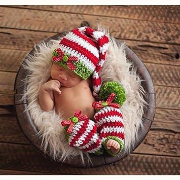 Amazon.com  Fashion Cute Newborn Baby Boy Girl Outfits Photography Props Christmas  Hat Socks  Baby 81f5b68ab0a