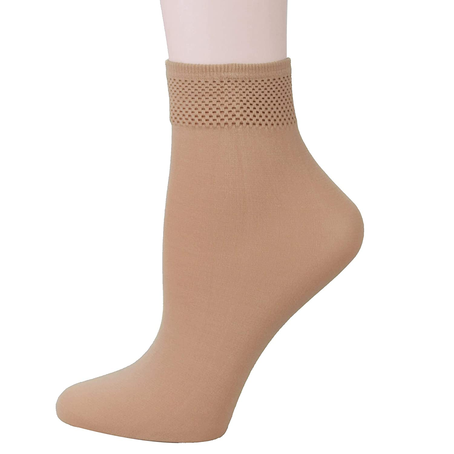 d36645023bf Fitu Women s 10 Pairs Modal Opaque Ankle High Tights Hosiery Socks (Beige)  9-11 Beige at Amazon Women s Clothing store