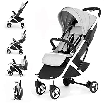 Allis Lightweight Baby Pram Pushchair Buggy Travel Stroller Plume Grey