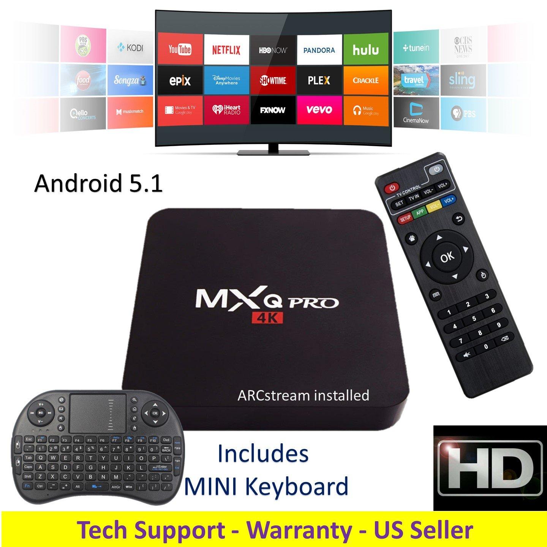 ARCstream MXq PRO - plus mini Keyboard - Android 5.1 - S905 Quad Core 1GB/8GB 2.0GHz Processor
