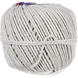 Polished Cotton Twine – Soft Cotton Yarn for Packing, Crafts Projects, and Food Service – Multiple Twine Diameters and…