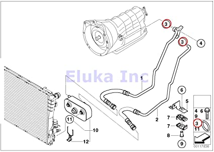 bmw genuine o-ring - auto transmission oil cooler hose (10 82 x 1 78 mm