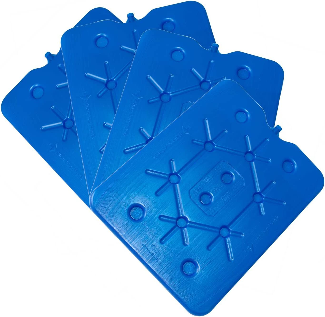 NEMT Lot de 4 accumulateurs de Froid Plats 800 ML 11 x 16,5 x 1,5 cm