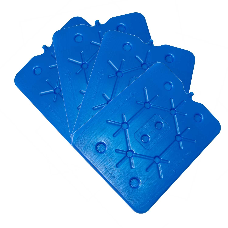 ToCi–Juego de 4por 800g plano nevera Acumuladores Ice Pack Hielo isotasche Connabride